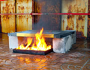 Riste testet for brandhæmmende egenskaber
